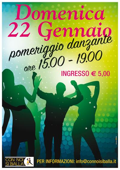 Domenica 22 Gennaio 2017 – pomeriggio danzante