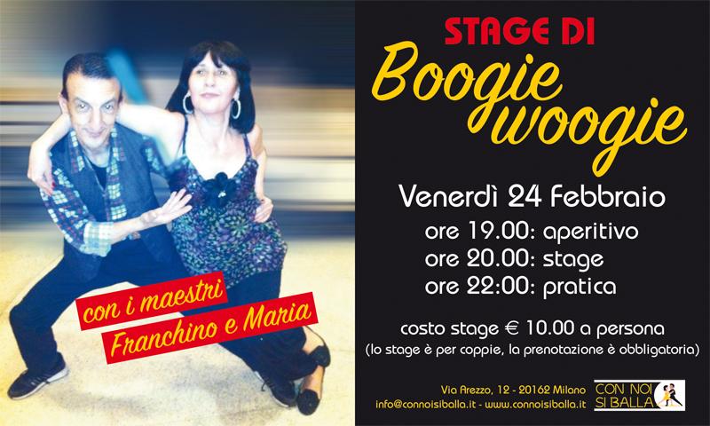 Stage di Boogie Woogie con Franchino e Maria